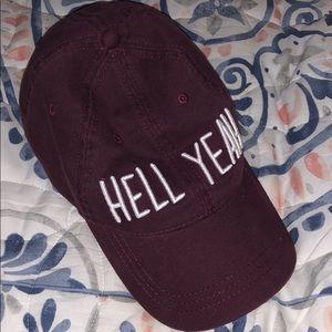 """Maroon """"hell yeah"""" hat"""